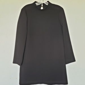 NWOT Zara mock neck open back crepe shift dress